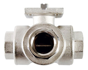 Albion 87-88 Economy Brass Threaded 3-Way Ball Valve